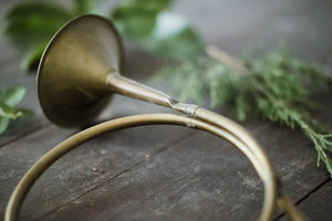 Decorative Brass Hunting Bugle - Old Grace Gathering Co.