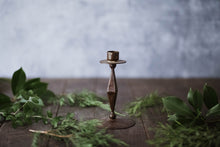 Load image into Gallery viewer, Darkened Bronze Candlestick - Old Grace Gathering Co.
