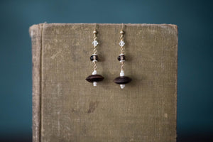 Wood + Gold Filled Earrings - Old Grace Gathering Co.