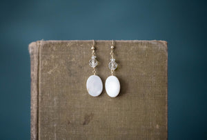 Mother of Pearl + Gold Filled Earrings - Old Grace Gathering Co.