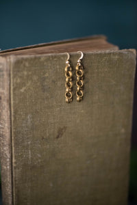 Antique Chain + Gold Filled Earrings - Old Grace Gathering Co.