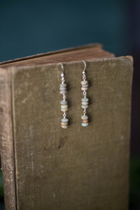 Aqua Terra Jasper + Sterling Silver Earrings - Old Grace Gathering Co.