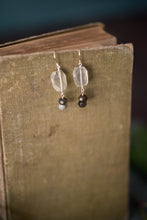 Load image into Gallery viewer, Quartz, Labradorite, Sterling + Gold Filled Earrings - Old Grace Gathering Co.
