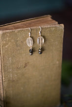 Load image into Gallery viewer, Quartz, Labradorite, Gold Filled + Sterling Earrings - Old Grace Gathering Co.