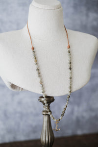 Vintage Anchor Labradorite Convertible Necklace - Old Grace Gathering Co.