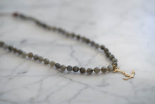 Load image into Gallery viewer, Vintage Anchor Labradorite Convertible Necklace - Old Grace Gathering Co.