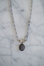 Load image into Gallery viewer, 1930s Bead + Labradorite Necklace - Old Grace Gathering Co.