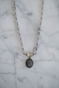1930s Bead + Labradorite Necklace - Old Grace Gathering Co.