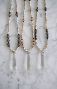 Chandelier Crystal Point Necklaces - Old Grace Gathering Co.