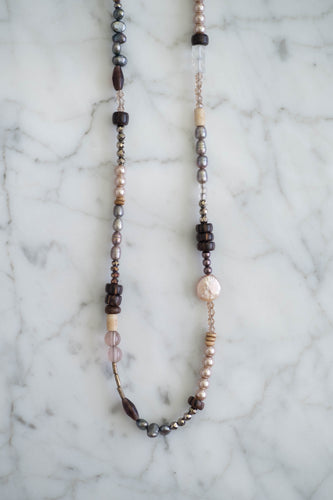 Mixed Gemstone Necklace - Old Grace Gathering Co.