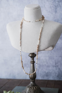 Extra Long Gemstone Wrap Necklace - Old Grace Gathering Co.