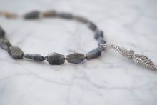 Load image into Gallery viewer, Labradorite + Vintage Rhinestone Necklace - Old Grace Gathering Co.