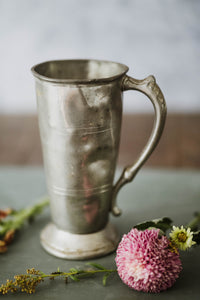 Solid Pewter Antique Chalice