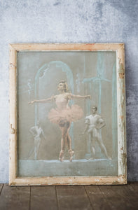 Original Antique Signed Pastel