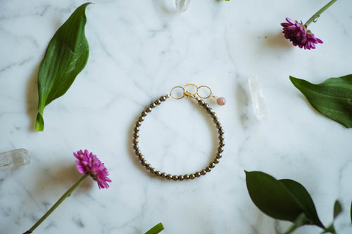 Pyrite + 14kt Gold Filled Bracelet
