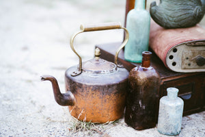 Ombre Antique Copper Tea Kettle