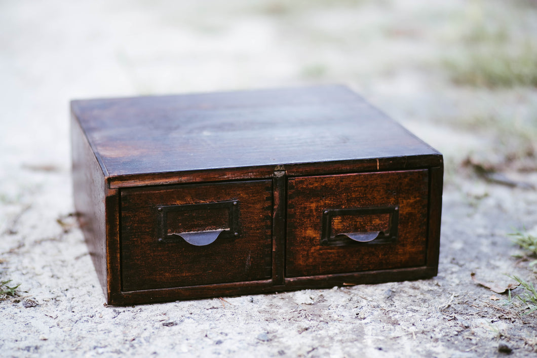Antique Wood Card Catalog