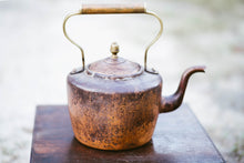 Load image into Gallery viewer, Ombre Antique Copper Tea Kettle