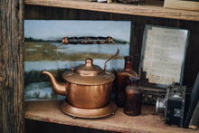 Load image into Gallery viewer, Small Copper Tea Pot + Stand