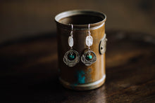 Load image into Gallery viewer, Native American Sterling + Turquoise Earrings