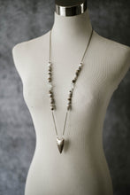 Load image into Gallery viewer, Silver Arrow + Eagle Eye Jasper Necklace