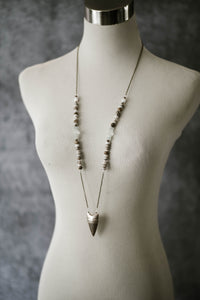Silver Arrow + Eagle Eye Jasper Necklace