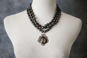 Triple Freshwater Pearl Strand Necklace