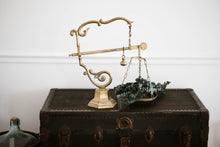 Load image into Gallery viewer, Rare Antique Tuscan Italian Cast Brass Balance Scale