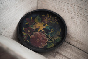 Antique Hand-Painted Wood Bowl