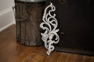 Antique French Cast Iron Candle Holder