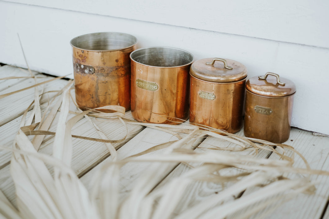 Nesting Copper Canister Set