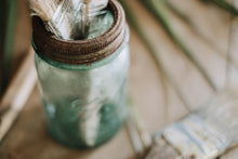 Load image into Gallery viewer, Blue Antique Ball Mason Jar