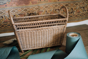 Antique French Gathering Basket