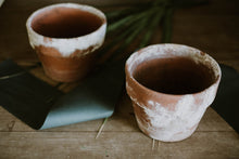 Load image into Gallery viewer, Set of 2 Weathered Antique Terra Cotta Pots