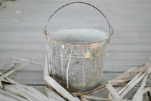 Load image into Gallery viewer, Large Antique Galvanized Zinc Metal Bucket