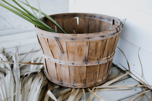Antique Wood Bushel Basket