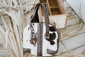 Vintage Cowhide Leather Purse