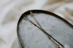 1800s Gold Filled Spectacle Chain Necklace