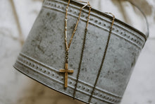 Load image into Gallery viewer, Antique Gold Filled Cross Necklace