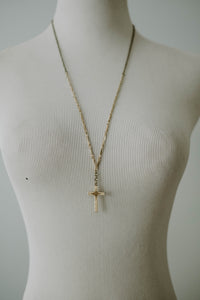 Antique Gold Filled Cross Necklace