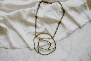 Large Sculptural Statement Necklace
