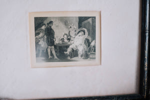 1800s Framed Etching Print