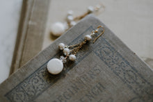 Load image into Gallery viewer, Coin Pearl + Silver Pearl Tassel Earrings