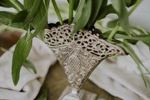 Load image into Gallery viewer, Vintage Silver Plated Solid Brass Flat Lace Vase