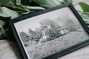 Antique Railroad Framed Photograph