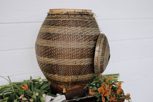 Extra Large Antique Southeast Asian Basket