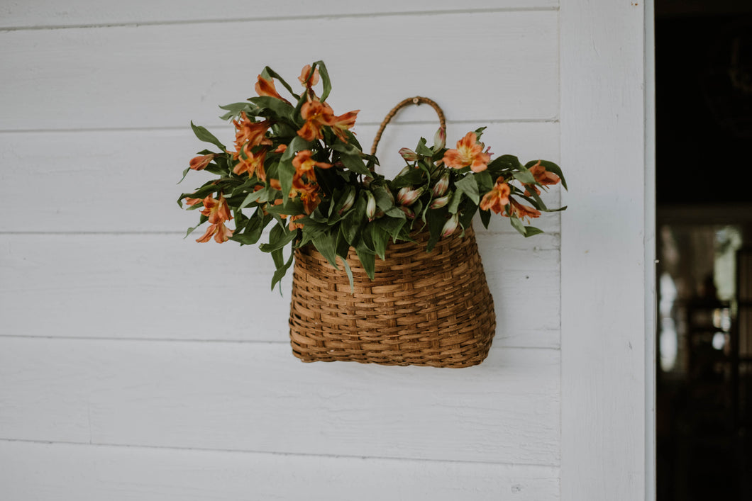Vintage Woven Wall Basket