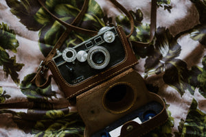 Antique WWII Film Camera + Leather Case