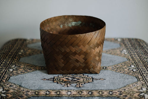 Woven Solid Copper Basket