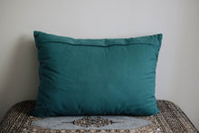 Load image into Gallery viewer, Genuine Suede Teal Accent Pillow